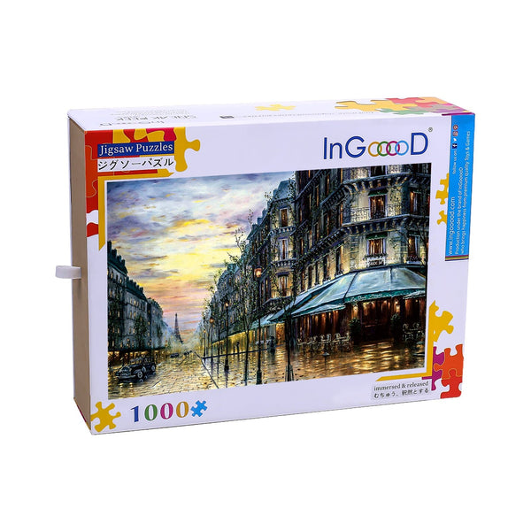 Ingooood Wooden Jigsaw Puzzle 1000 Pieces for Adult-On the streets of Paris - Ingooood jigsaw puzzle 1000 piece