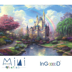 InGooooD - World Mini Jigsaw Puzzle 1000 Pieces For Adults and Kids - Fantasy Castle - Ingooood