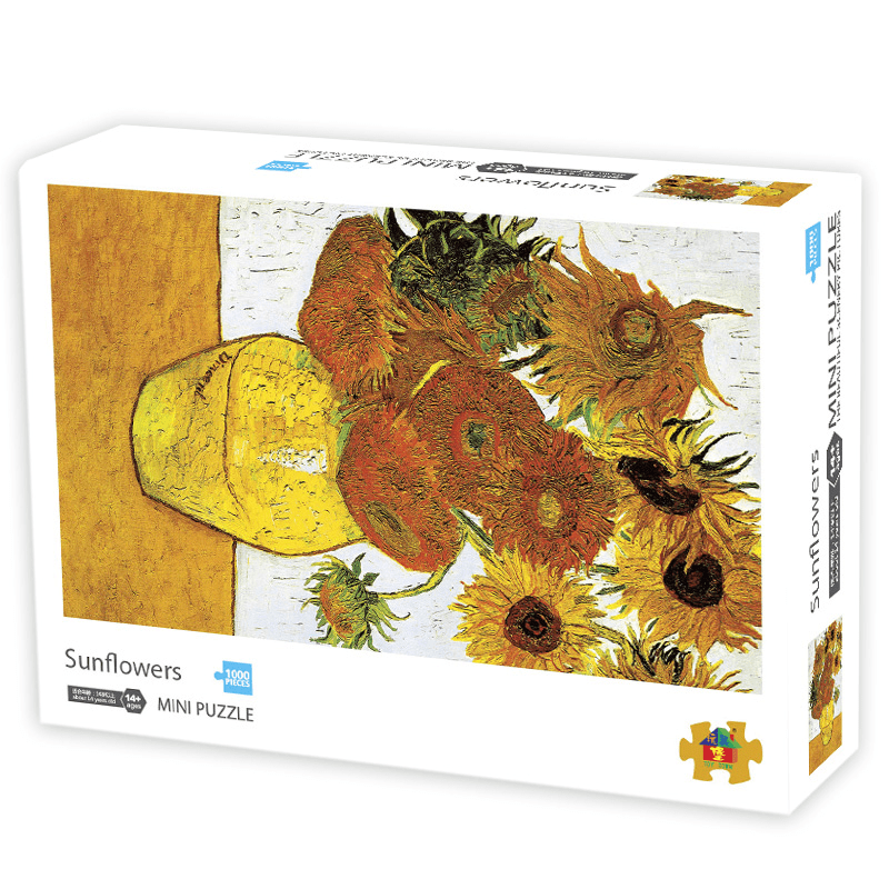 InGooooD - World Mini Jigsaw Puzzle 1000 Pieces For Adults and Kids - Sunflowers - Ingooood_US