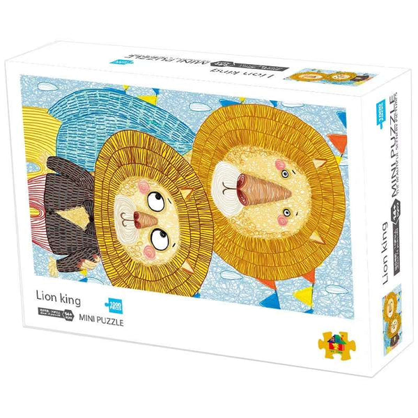 InGooooD - World Mini Jigsaw Puzzle 1000 Pieces For Adults and Kids - Lion King - Ingooood_US