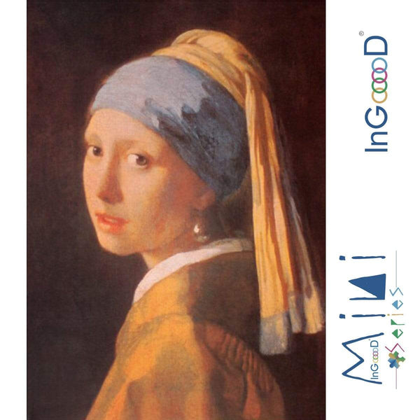 InGooooD - World Mini Jigsaw Puzzle 1000 Pieces For Adults and Kids - The Girl with a Pearl Earring - Ingooood_US