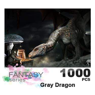 Ingooood Wooden Jigsaw Puzzle 1000 Pieces for Adult - Gray Dragon - Ingooood_US