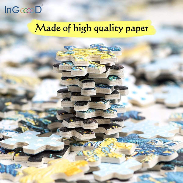 InGooooD - World Mini Jigsaw Puzzle 1000 Pieces For Adults and Kids - Rainy - Ingooood_US
