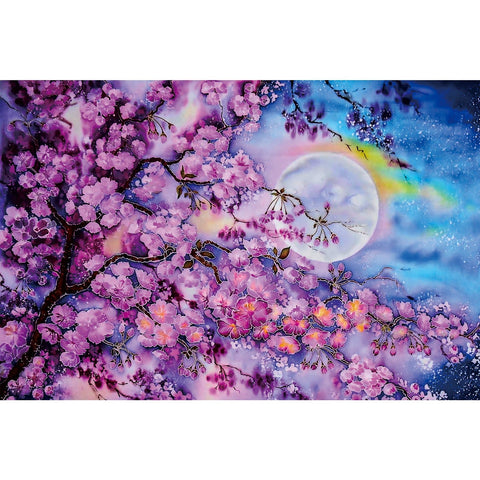 Ingooood Wooden Jigsaw Puzzle 1000 Pieces for Adult- Cherry blossoms floating