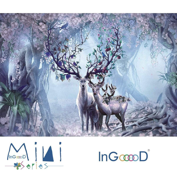 InGooooD - World Mini Jigsaw Puzzle 1000 Pieces For Adults and Kids - Elk House - Ingooood_US