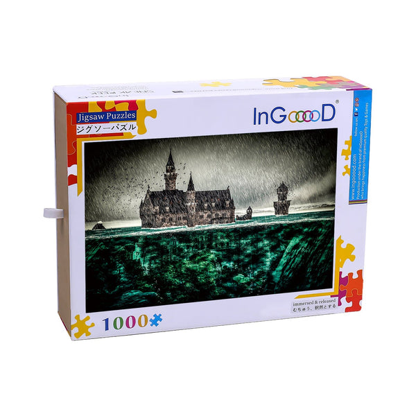 Ingooood Wooden Jigsaw Puzzle 1000 Pieces for Adult- Drown The Castle - Ingooood jigsaw puzzle 1000 piece