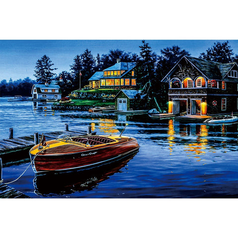 Ingooood Wooden Jigsaw Puzzle 1000 Pieces for Adult-House and boat - Ingooood jigsaw puzzle 1000 piece