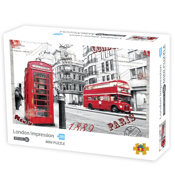 InGooooD - World Mini Jigsaw Puzzle 1000 Pieces For Adults and Kids - London Impression - Ingooood_US
