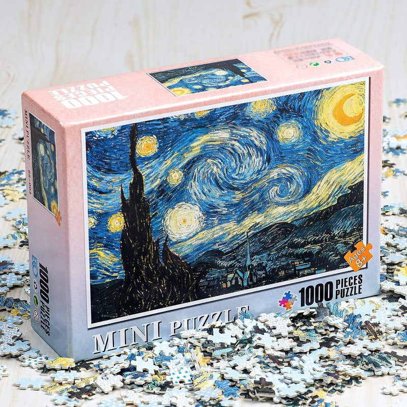 InGooooD - World Mini Jigsaw Puzzle 1000 Pieces For Adults and Kids - Rainy