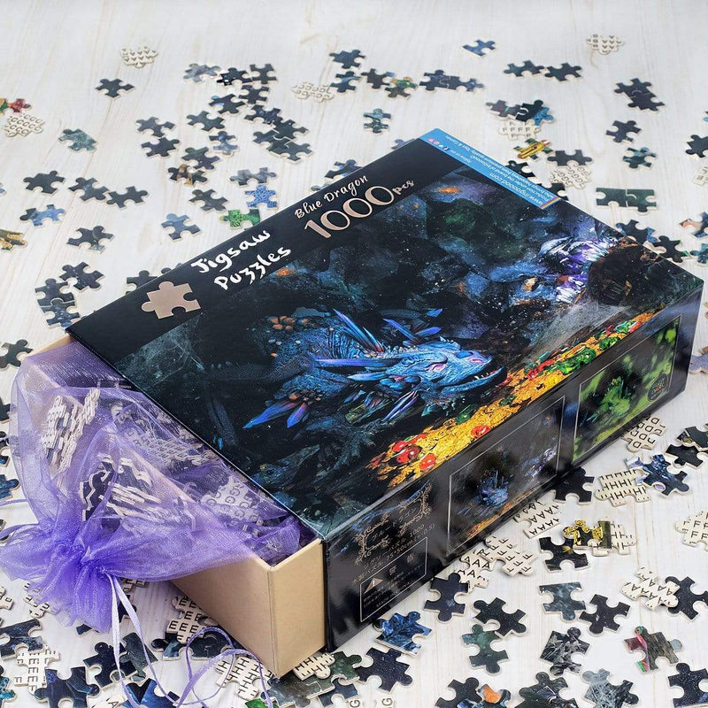 Ingooood Jigsaw Puzzle 1000 Pieces - Blue Dragon - Ingooood_US