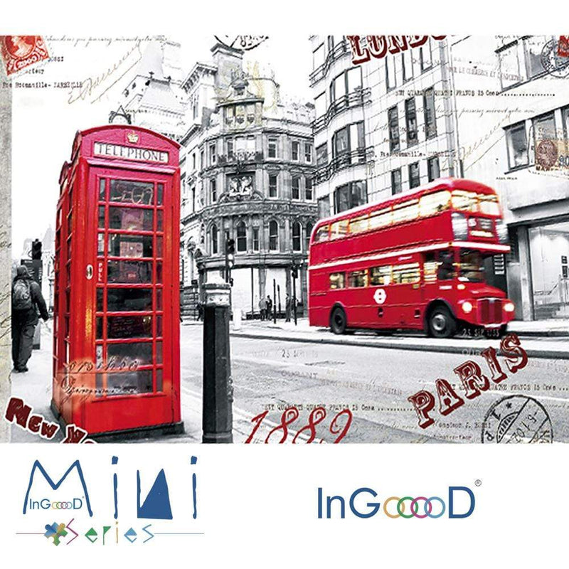 InGooooD - World Mini Jigsaw Puzzle 1000 Pieces For Adults and Kids - London Impression