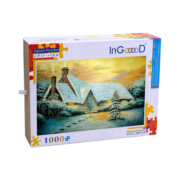 Ingooood Wooden Jigsaw Puzzle 1000 Pieces for Adult-Winter scenery - Ingooood jigsaw puzzle 1000 piece