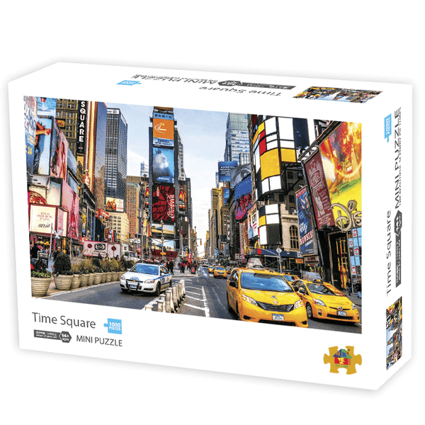 InGooooD - World Mini Jigsaw Puzzle 1000 Pieces For Adults and Kids - Time Square - Ingooood_US