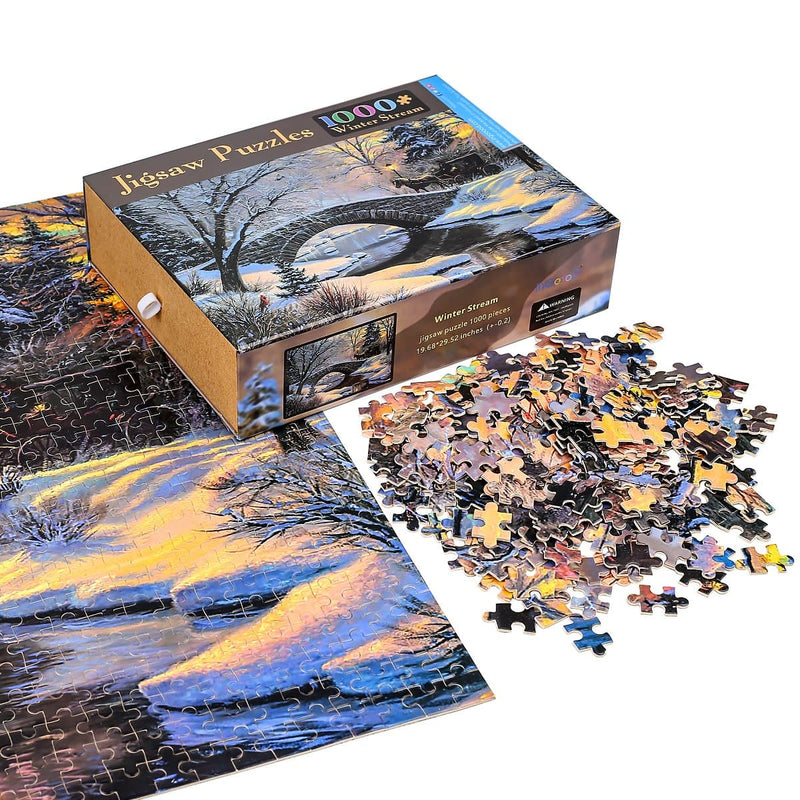 Ingooood Wooden Jigsaw Puzzle 1000 Pieces for Adult - Collection Pavilion - Ingooood_US