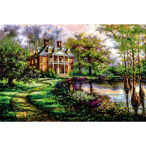 Ingooood Wooden Jigsaw Puzzle 1000 Pieces for Adult-European landscape painting - Ingooood jigsaw puzzle 1000 piece