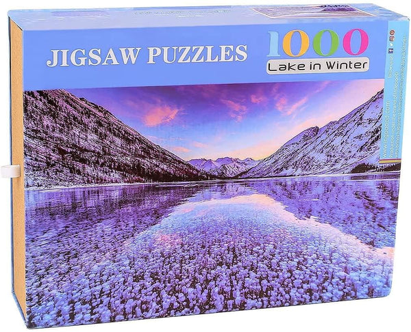 Ingooood- Jigsaw Puzzles 1000 Pieces for Adult- Tranquil Series- Lake in Winter - Ingooood jigsaw puzzle 1000 piece