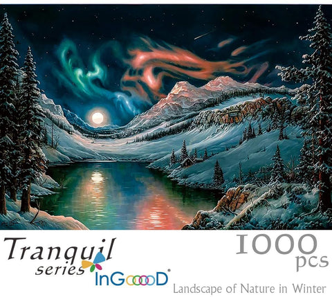 Ingooood- Jigsaw Puzzles 1000 Pieces for Adult- Tranquil Series- Landscape of Nature in Winter - Ingooood jigsaw puzzle 1000 piece