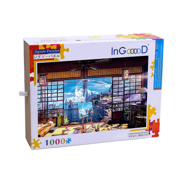Ingooood Wooden Jigsaw Puzzle 1000 Pieces for Adult-Summer cottage - Ingooood jigsaw puzzle 1000 piece