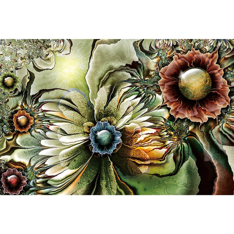 Ingooood Wooden Jigsaw Puzzle 1000 Pieces for Adult-Gorgeous flowers
