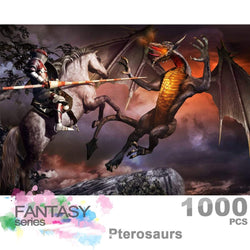Ingooood Wooden Jigsaw Puzzle 1000 Pieces for Adult - Pterosaurs - Ingooood_US