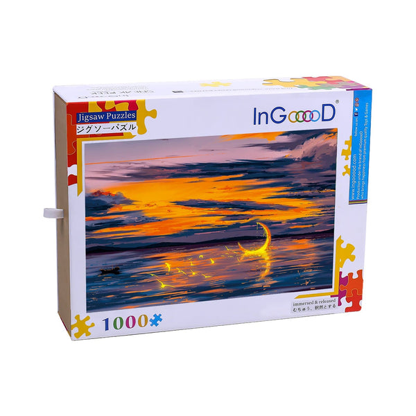 Ingooood Wooden Jigsaw Puzzle 1000 Pieces for Adult-Dream ocean wave - Ingooood jigsaw puzzle 1000 piece
