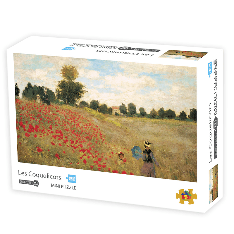 InGooooD - World Mini Jigsaw Puzzle 1000 Pieces For Adults and Kids - Les Coquelicots