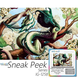 Ingooood-Jigsaw Puzzle 1000 Pieces-Sneak Peek Series-Fantasy Dragon-IG-1258 Entertainment Toys for Adult Special Graduation or Birthday Gift Home Decor - Ingooood_US