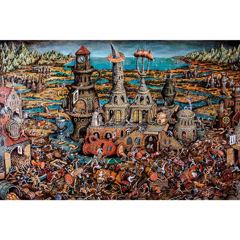 Ingooood Wooden Jigsaw Puzzle 1000 Pieces for Adult- Industrial age of war