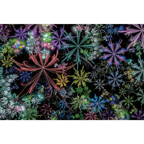Ingooood Wooden Jigsaw Puzzle 1000 Pieces for Adult-Snow crystals