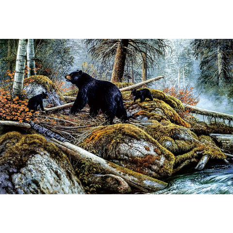 Ingooood Wooden Jigsaw Puzzle 1000 Pieces for Adult-Asian black bear