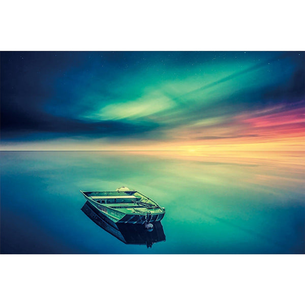 Ingooood Wooden Jigsaw Puzzle 1000 Pieces for Adult-Ships under The Colored Sky - Ingooood jigsaw puzzle 1000 piece