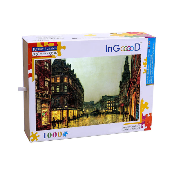 Ingooood Wooden Jigsaw Puzzle 1000 Pieces for Adult- City Street - Ingooood jigsaw puzzle 1000 piece