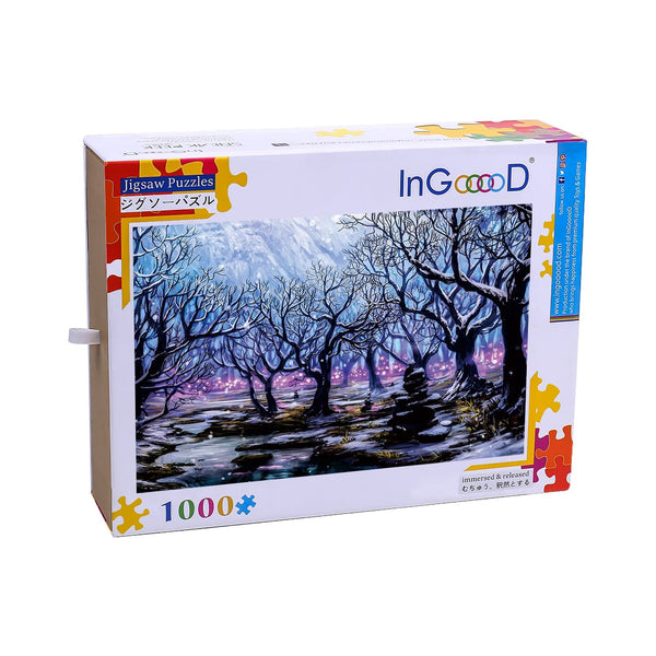 Ingooood Wooden Jigsaw Puzzle 1000 Pieces for Adult-Winter Jacaranda - Ingooood jigsaw puzzle 1000 piece