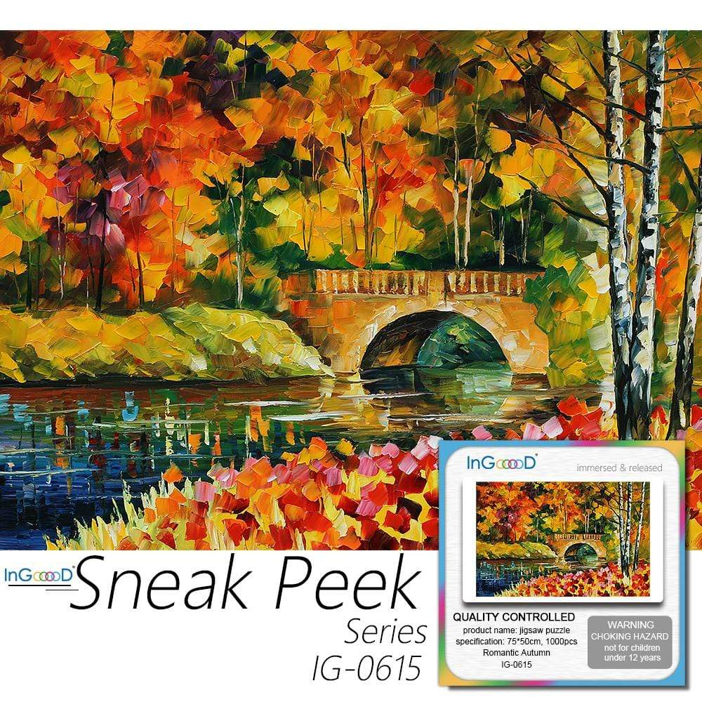 Ingooood- Jigsaw Puzzle 1000 Pieces- Romantic Autumn_IG-0615 Entertainment Toys for Adult Special Graduation or Birthday Gift Home Decor - Ingooood