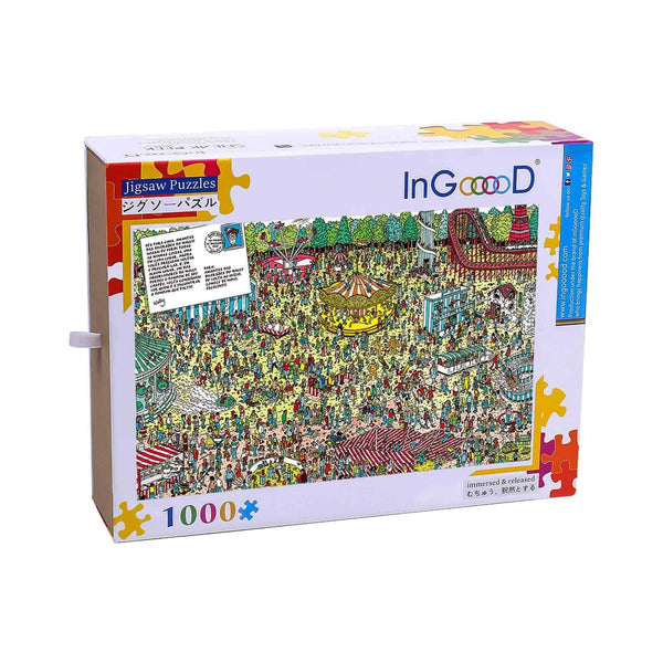 Ingooood-Jigsaw Puzzle 1000 Pieces-Sneak Peek Series-Amusement park_IG-1563 Entertainment Toys for Adult Graduation or Birthday Gift Home Decor - Ingooood_US