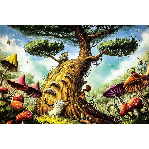 Ingooood-Jigsaw Puzzle 1000 Pieces-Sneak Peek Series-Animals under the magic tree_IG-1550 Entertainment Toys for Adult Graduation or Birthday Gift Home Decor - Ingooood_US