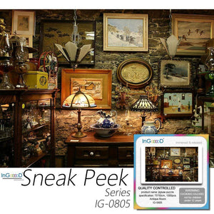 Ingooood- Jigsaw Puzzle 1000 Pieces- Sneak Peek Series- Antique Room_IG-0805 Entertainment Toys for Adult - Ingooood