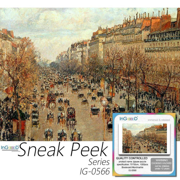 Ingooood- Jigsaw Puzzle 1000 Pieces- Sneak Peek Series-Boulevard Montmartre_IG-0566 Entertainment Toys for Graduation or Birthday Gift Home Decor - Ingooood