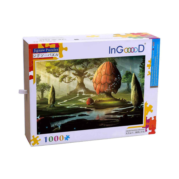 Ingooood-Jigsaw Puzzle 1000 Pieces-Sneak Peek Series-Dream forest_IG-1583 Entertainment Toys for Adult Graduation or Birthday Gift Home Decor - Ingooood_US