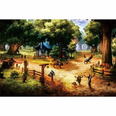 Ingooood-Jigsaw Puzzle 1000 Pieces-Sneak Peek Series-Elwynn Forest_IG-1538 Entertainment Toys for Adult Graduation or Birthday Gift Home Decor - Ingooood_US
