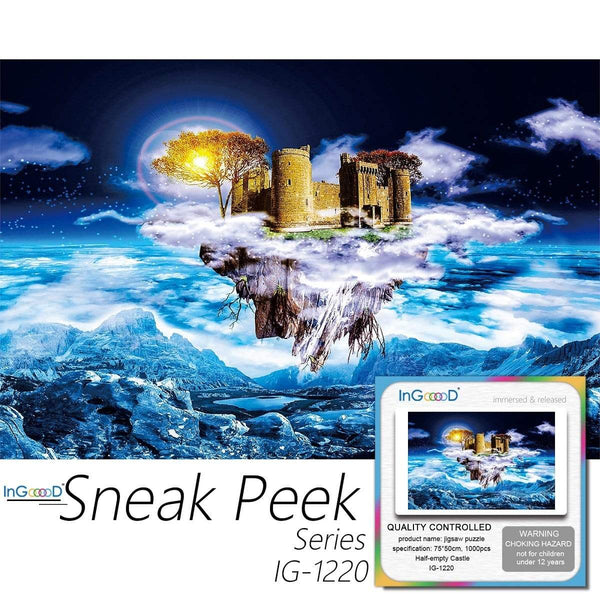 Ingooood-Jigsaw Puzzle 1000 Pieces-Sneak Peek Series- Half-Empty Castle_IG-1220 Entertainment Toys for Adult Graduation or Birthday Gift Home Decor - Ingooood