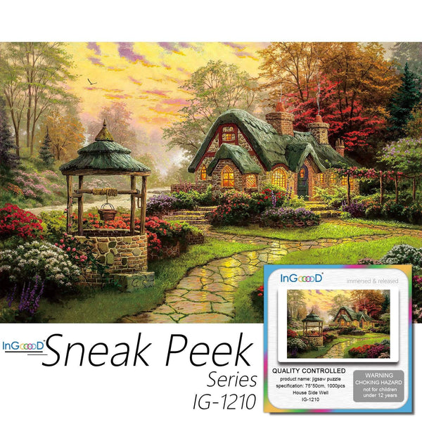 Ingooood-Jigsaw Puzzle 1000 Pieces-Sneak Peek Series-House Side Well_IG-1210 Entertainment Toys for Adult Special Graduation or Birthday Gift Home Decor - Ingooood