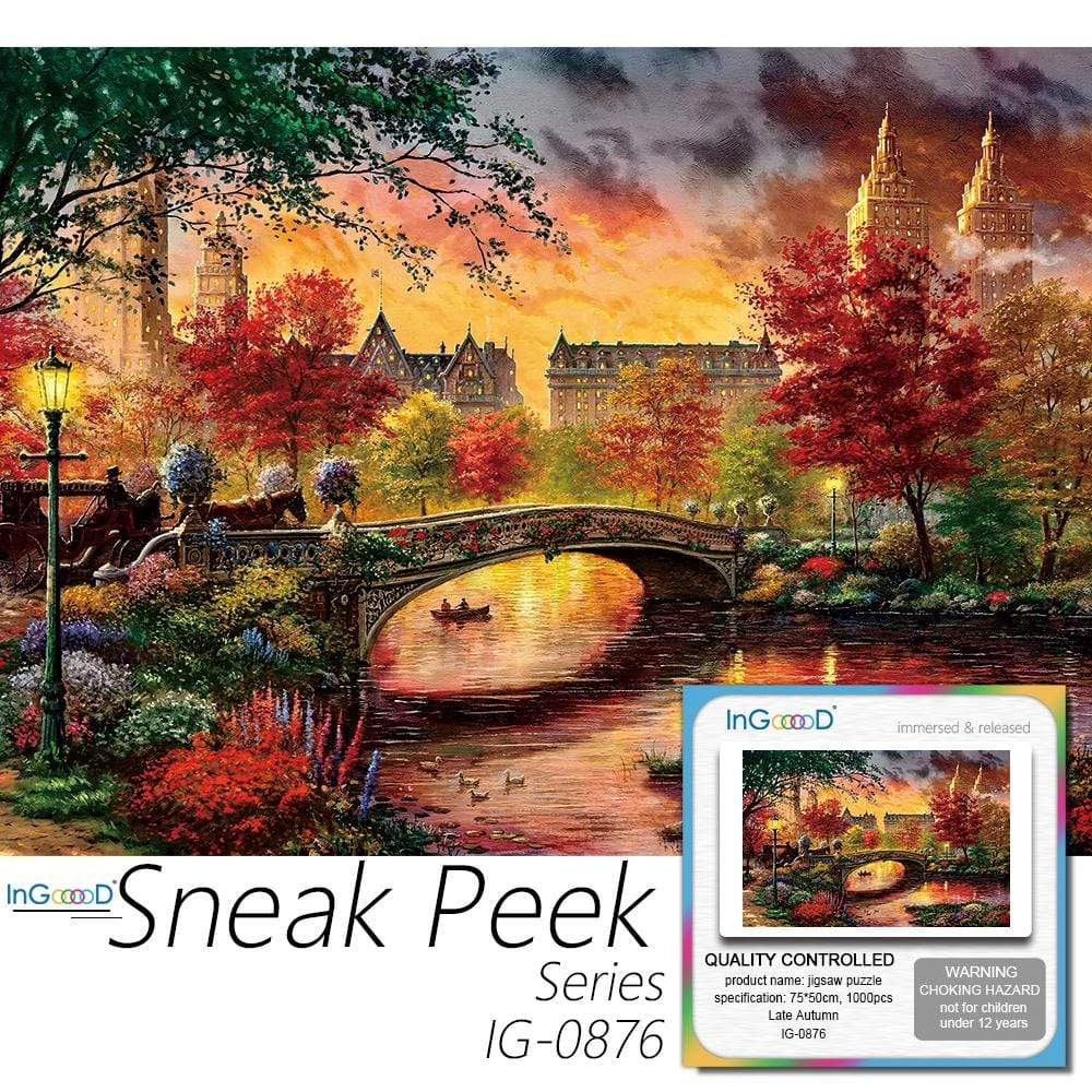 Ingooood- Jigsaw Puzzle 1000 Pieces- Sneak Peek Series-Late Autumn_IG-0876 Entertainment Toys for Adult Special Graduation or Birthday Gift Home Decor - Ingooood