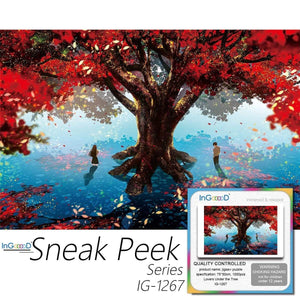 Ingooood-Jigsaw Puzzle 1000 Pieces-Sneak Peek Series-Lovers Under The Tree_IG-1267 Entertainment Toys for Adult Special Graduation or Birthday Gift Home Decor - Ingooood