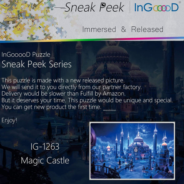 Ingooood-Jigsaw Puzzle 1000 Pieces-Sneak Peek Series-Magic Castle_IG-1263 Entertainment Toys for Adult Special Graduation or Birthday Gift Home Decor - Ingooood