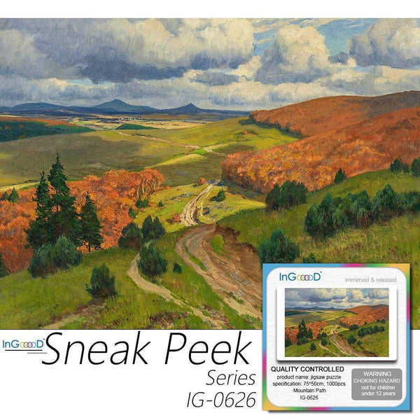 Ingooood-Jigsaw Puzzle 1000 Pieces-Sneak Peek Series-Mountain Path_IG-0626 Entertainment Toys for Adult Special Graduation or Birthday Gift Home Decor - Ingooood