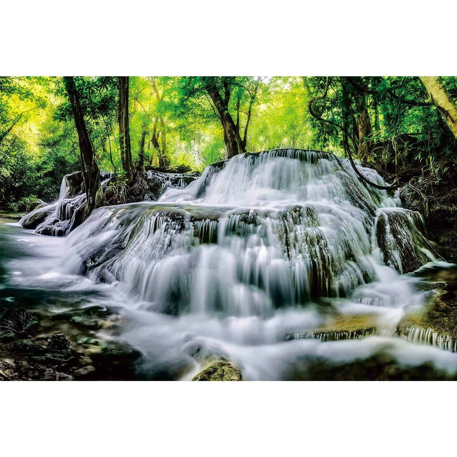 Ingooood-Jigsaw Puzzle 1000 Pieces-Sneak Peek Series-Mountain waterfall_IG-1589 Entertainment Toys for Adult Graduation or Birthday Gift Home Decor - Ingooood_US