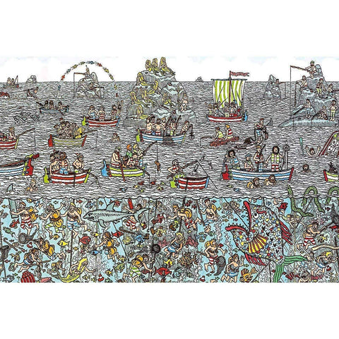 Ingooood-Jigsaw Puzzle 1000 Pieces-Sneak Peek Series-Ocean Carnival_IG-1544 Entertainment Toys for Adult Graduation or Birthday Gift Home Decor - Ingooood_US