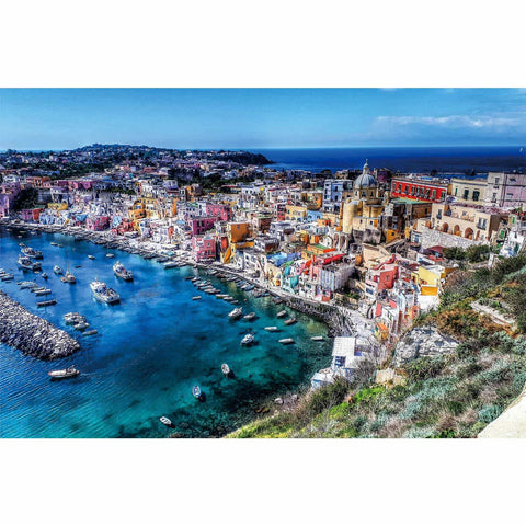 Ingooood-Jigsaw Puzzle 1000 Pieces-Sneak Peek Series-Procida Island_IG-1551 Entertainment Toys for Adult Graduation or Birthday Gift Home Decor - Ingooood_US