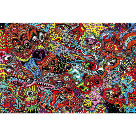 Ingooood-Jigsaw Puzzle 1000 Pieces-Sneak Peek Series-Psychedelic reel_IG-1548 Entertainment Toys for Adult Graduation or Birthday Gift Home Decor - Ingooood_US